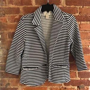 Levis Striped Cotton Blend Blazer Size M